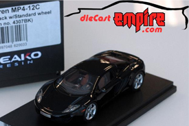 Peako Model 1/43 McLaren MP4-12C Sapphire Black w/ Standard wheel