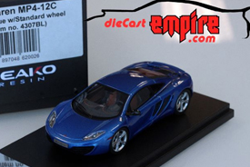 Peako Model 1/43 McLaren MP4-12C Azure Blue w/ Standard wheel
