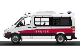 Tiny 1/18 Mercedes-Benz Sprinter EU Police Vehicle (LED & Alarm)