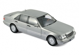 Norev Mercedes-Benz S600 W140 1997 Light Grey Metalic