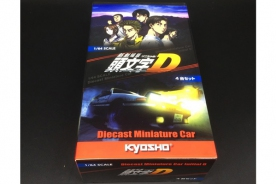 Kyosho 1/64 Initial D box set of 4 models (AE86, RX-7, GT-R R32)