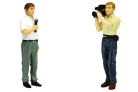TSM 1/18 Reporter/Camera Man (Set of 2)